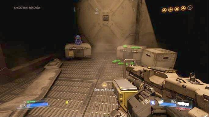 Za rogiem znajdziesz drugą figurkę (Pan Patriota) - Obiekt Argentu (zniszczony) | Opis przejścia - Doom - poradnik do gry