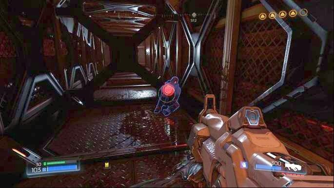 Po zeskoczeniu w dół, odwróć się o 180 stopni i wskocz do korytarza przed tobą - Obiekt Argentu (zniszczony) | Opis przejścia - Doom - poradnik do gry