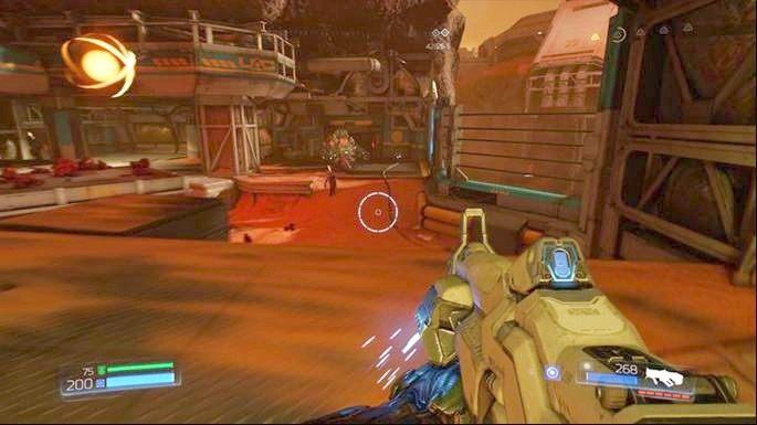 Kawałek dalej będzie śluza, którą musisz otworzyć przy pomocy pobliskiego panelu - Kompleks Badań | Opis przejścia - Doom - poradnik do gry
