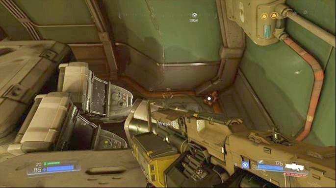 Jak zaliczysz wyzwanie, sprawdź prawy róg pomieszczenia - Kompleks Badań | Opis przejścia - Doom - poradnik do gry