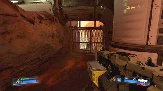 Stojący przy wyjściu z tunelu spójrz w lewo - Kompleks Badań | Opis przejścia - Doom - poradnik do gry