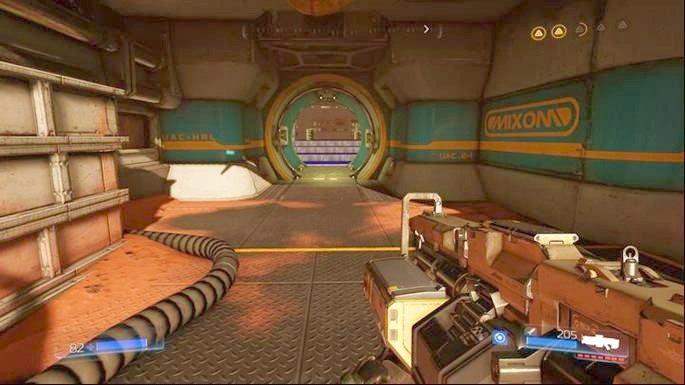 Dźwignia otworzy Klasyczną Mapę, która znajduje się niedaleko zniszczonego przed chwilą Gniazda Juchy - Kompleks Badań | Opis przejścia - Doom - poradnik do gry