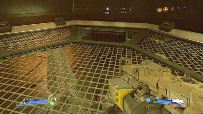 Tam znajdziesz już uruchomiony wentylator, który musisz wyłączyć - Kompleks Badań | Opis przejścia - Doom - poradnik do gry