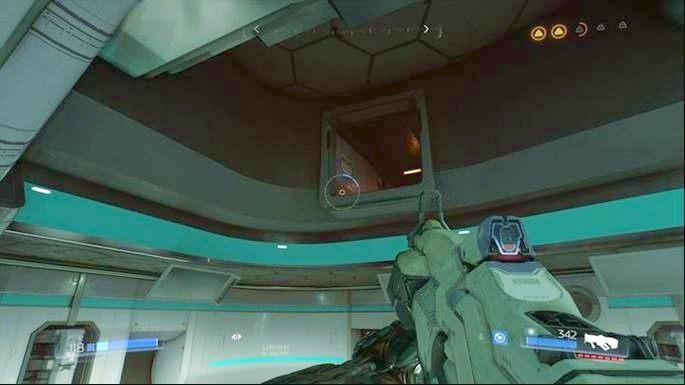 Gdy je zbierzesz, udaj się do Prototype Lab 01 i wdrap do szybu z prawej - Kompleks Badań | Opis przejścia - Doom - poradnik do gry
