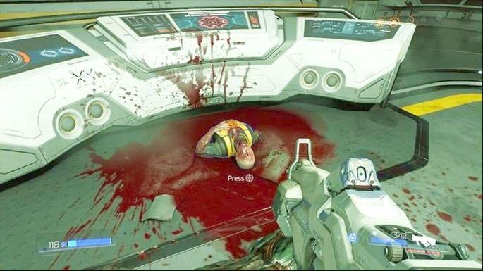 Teraz możesz przejść do Secirity Room i podnieś leżące tam zwłoki - Kompleks Badań | Opis przejścia - Doom - poradnik do gry