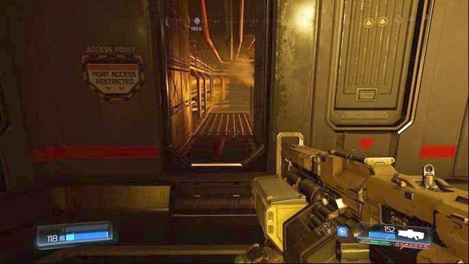 Pozbywszy się wszystkich przeciwników, użyj panelu na środku, a następnie przejść przez drzwi z prawej - Kompleks Badań | Opis przejścia - Doom - poradnik do gry