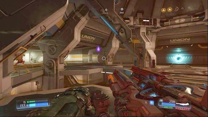 W pomieszczeniu kawałek dalej twoim celem jest zniszczenie Gniazdo Juchy - Kompleks Badań | Opis przejścia - Doom - poradnik do gry