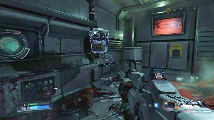Za wspomnianymi wcześniej drzwiami będzie korytarz - Laboratoria Lazarus | Opis przejścia - Doom - poradnik do gry