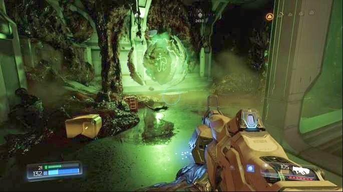 Po drugiej stronie idź cały czas prosto, a następnie wdrap się poziom wyżej przez dziurę ma końcu tunelu - Laboratoria Lazarus | Opis przejścia - Doom - poradnik do gry