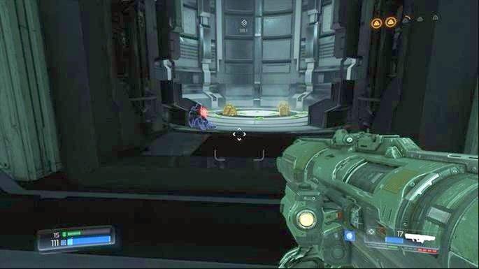 Po zakończeniu starcia, udaj się na drugi koniec lokacji i otwórz znajdującą się tam śluzę - Laboratoria Lazarus | Opis przejścia - Doom - poradnik do gry