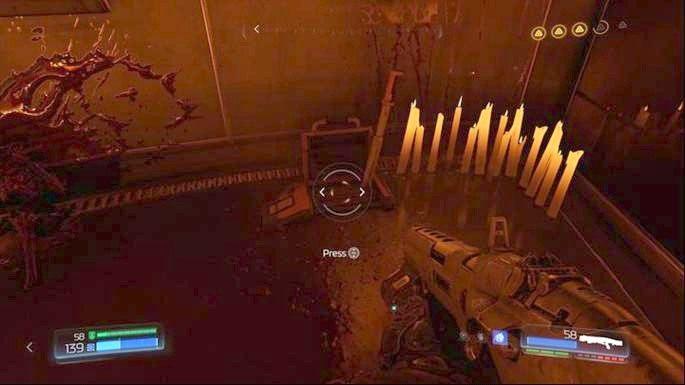 Na prawo od niej jest dźwignia - Laboratoria Lazarus | Opis przejścia - Doom - poradnik do gry