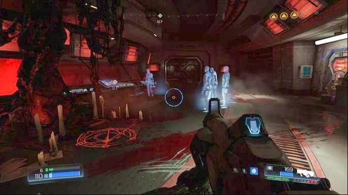 Pojawi się wtedy winda, na którą musisz wskoczyć - Laboratoria Lazarus | Opis przejścia - Doom - poradnik do gry