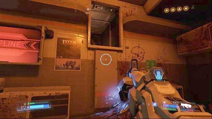 Gdy krótka scenka dobiegnie końca, udaj się do pomieszczenia obok - Laboratoria Lazarus | Opis przejścia - Doom - poradnik do gry