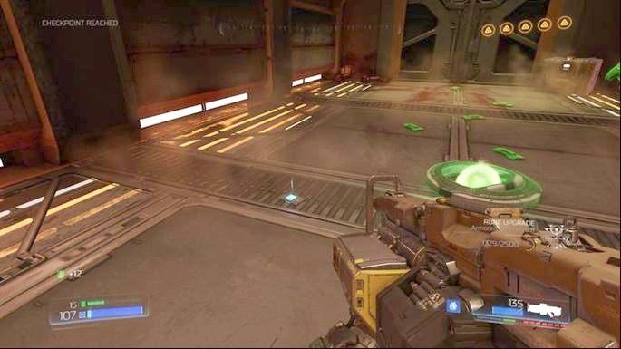 Gdy walka dobiegnie końca, zeskocz na okrągłą windę i wjedź poziom wyżej - Laboratoria Lazarus | Opis przejścia - Doom - poradnik do gry