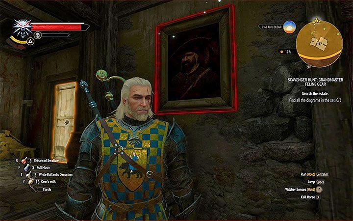 Na dziedzińcu przebywa dość liczna grupa 40-poziomowych bandytów, z którymi Geralt musi się uporać - Arcymistrzowski rynsztunek Kota - Arcymistrzowski wiedźmiński rynsztunek - Wiedźmin 3: Krew i wino - poradnik do gry