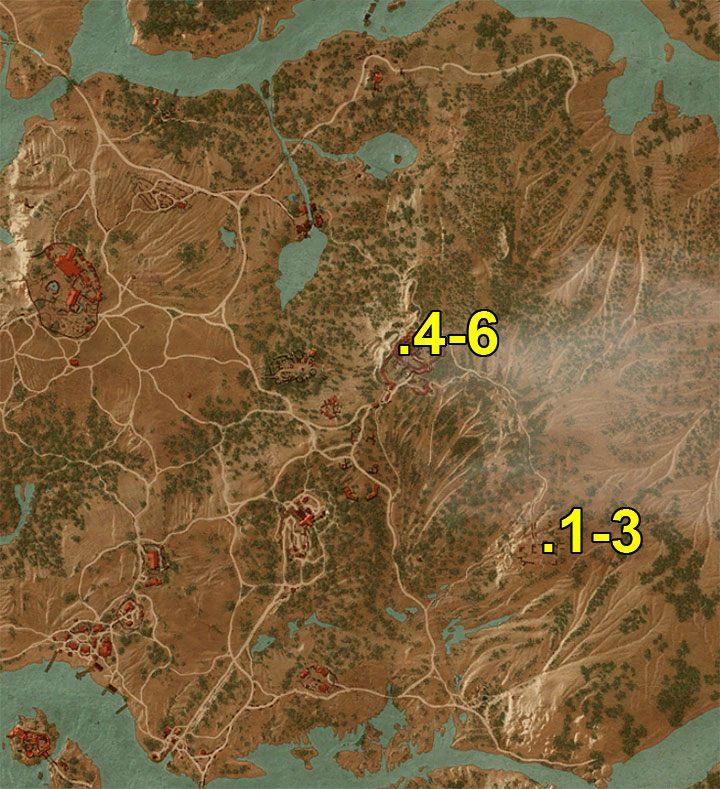 Oznaczenia z mapy - Arcymistrzowski rynsztunek Gryfa - Arcymistrzowski wiedźmiński rynsztunek - Wiedźmin 3: Krew i wino - poradnik do gry