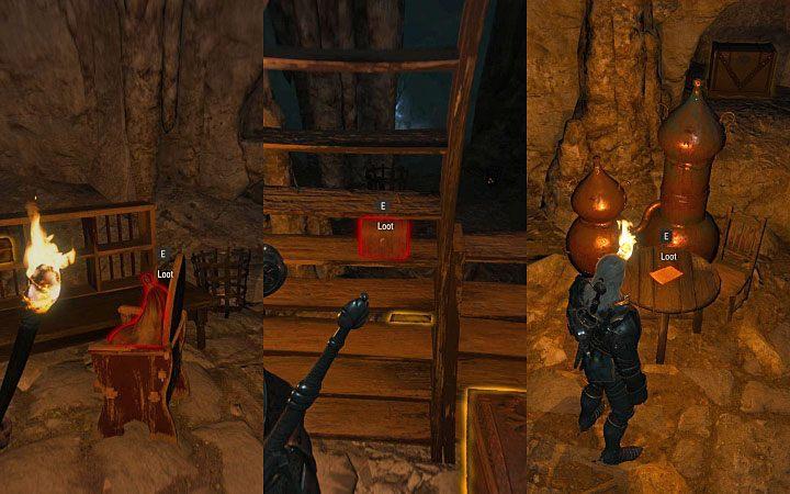 W lokacji tej do odnalezienia są trzy nowe schematy i ich lokalizacje prezentuje powyższy obrazek (polegaj tak jak zwykle na wiedźmińskich zmysłach) - Arcymistrzowski rynsztunek Gryfa - Arcymistrzowski wiedźmiński rynsztunek - Wiedźmin 3: Krew i wino - poradnik do gry