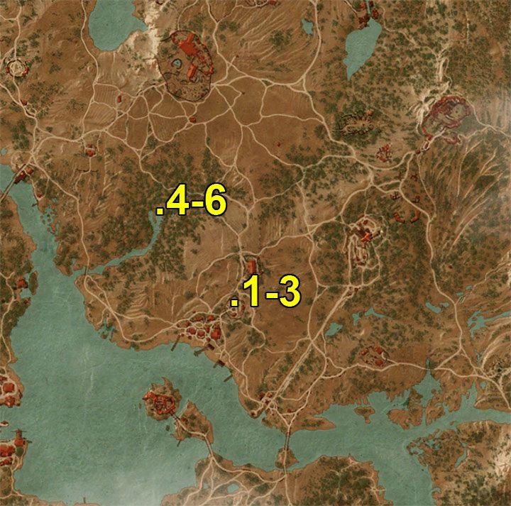 Oznaczenia z mapy - Arcymistrzowski rynsztunek Niedźwiedzia - Arcymistrzowski wiedźmiński rynsztunek - Wiedźmin 3: Krew i wino - poradnik do gry