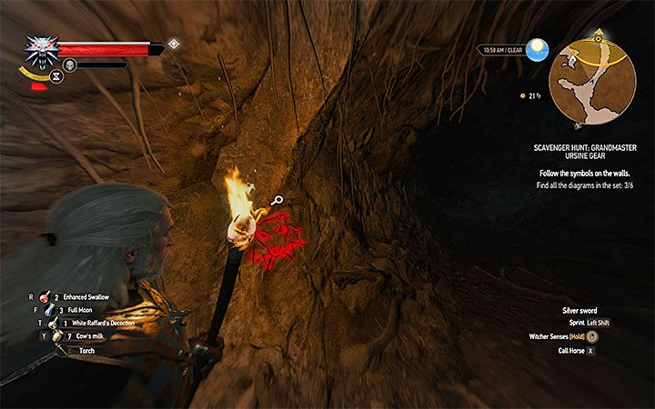 W jednym z pierwszych obszarów jaskiń możesz odnaleźć notatkę z ostrzeżeniem (Warning) - Arcymistrzowski rynsztunek Niedźwiedzia - Arcymistrzowski wiedźmiński rynsztunek - Wiedźmin 3: Krew i wino - poradnik do gry