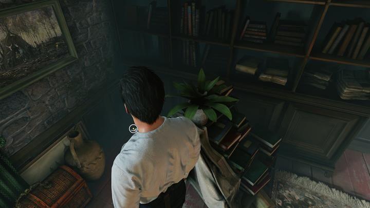 W gabinecie Lorda Marsha, podejdź do zdjęć nad kominkiem, a następnie podejdź do biurka z dokumentacją - Dom Lorda Marsha i analiza chusty - Prey Tell / Ofiarna opowieść - Sherlock Holmes: The Devils Daughter - poradnik do gry