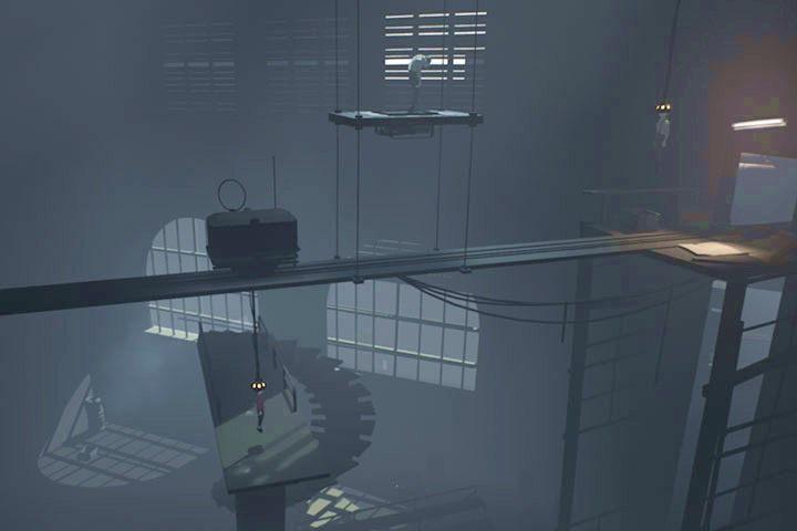 Dojedziesz do pomieszczenia z wielką klapą u dołu - Fabryka - Inside - poradnik do gry - Inside - poradnik do gry