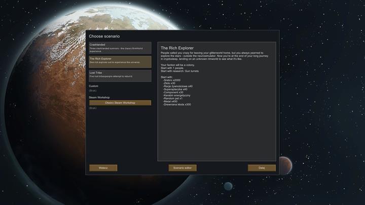 Po wyborze nowej kolonii, możesz domyślnie zdecydować się na trzy warianty rozgrywki - Tryby gry - Podstawy rozgrywki - RimWorld - poradnik do gry