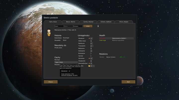 Edytor tworzenia kolonistów oferuje bardzo wiele opcji - Tworzenie kolonistów - Podstawy rozgrywki - RimWorld - poradnik do gry