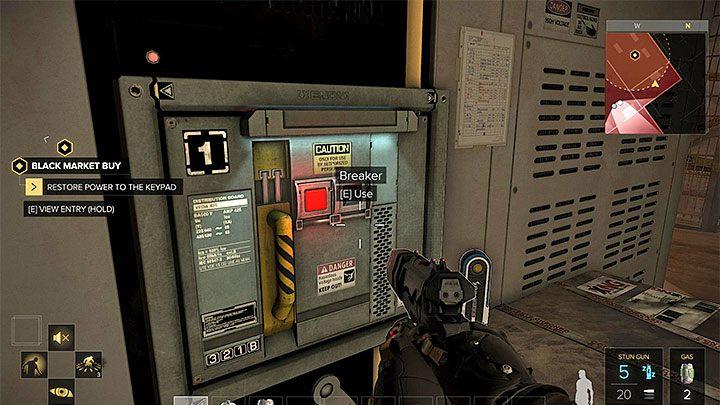 Skrzynka z bezpiecznikami - Zakupy na Czarnym Rynku - główne zadanie - Dubaj - Deus Ex: Rozłam Ludzkości - poradnik do gry