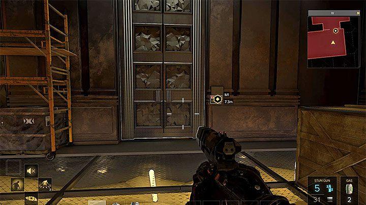 Drzwi prowadzące do atrium - użyj gotowego kodu lub włam się - Zakupy na Czarnym Rynku - główne zadanie - Dubaj - Deus Ex: Rozłam Ludzkości - poradnik do gry
