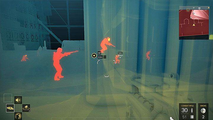 Dobrze jest używać Wyostrzenia wzroku w celu lokalizowania przeciwników - Zakupy na Czarnym Rynku - główne zadanie - Dubaj - Deus Ex: Rozłam Ludzkości - poradnik do gry