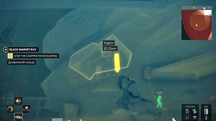 Główny cel misji, czyli uziemienie śmigłowca, możesz zrealizować bez konieczności jej niszczenia w wyniku przeprowadzonego ostrzału - Zakupy na Czarnym Rynku - główne zadanie - Dubaj - Deus Ex: Rozłam Ludzkości - poradnik do gry