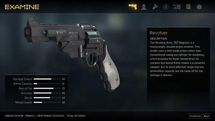 Rewolwer podstawowy - Bronie (opis i lokalizacje) - Zestawienia - Deus Ex: Rozłam Ludzkości - poradnik do gry