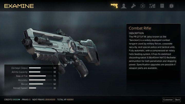 Karabin szturmowy przy maksymalnych parametrach broni - Bronie (opis i lokalizacje) - Zestawienia - Deus Ex: Rozłam Ludzkości - poradnik do gry