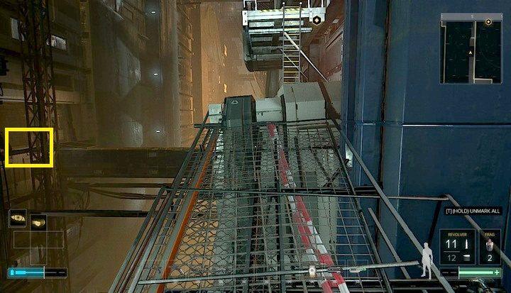 Miejsce odnalezienia broni w Gardzieli - Bronie (opis i lokalizacje) - Zestawienia - Deus Ex: Rozłam Ludzkości - poradnik do gry