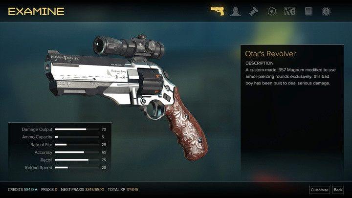 Rewolwer Otara - Bronie (opis i lokalizacje) - Zestawienia - Deus Ex: Rozłam Ludzkości - poradnik do gry