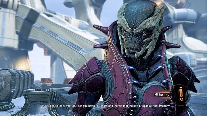 Jeśli wybrałeś pierwszy z opisanych wariantów to będziesz mógł też zadecydować o dalszym losie Kardynał - Ścieżka nadziei (A Trail of Hope) | Operacje priorytetowe - Mass Effect: Andromeda - poradnik do gry