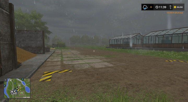 Szklarnie warto umieścić niedaleko hodowli zwierząt, skąd łatwo dostarczysz obornik - Budynki i inwestycje - Dla początkujących - Farming Simulator 17 - poradnik do gry