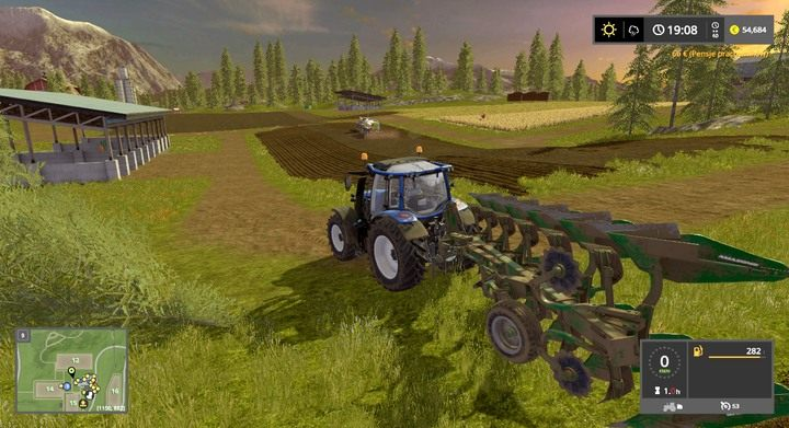 Utworzone nieistniejące wcześniej ok. 0.5ha pole przy bazie w Goldcrest Valley - Tworzenie i łączenie pól - Dla początkujących - Farming Simulator 17 - poradnik do gry