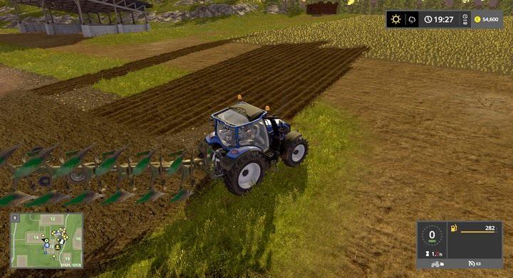 By połączyć dwie działki przeoraj przestrzeń / drogę między nimi - Tworzenie i łączenie pól - Dla początkujących - Farming Simulator 17 - poradnik do gry