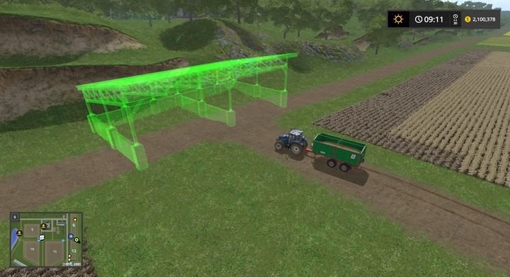 Aby ładnie magazynować plony poza bazą możesz utworzyć bróg - Porady strategiczne - Dla początkujących - Farming Simulator 17 - poradnik do gry