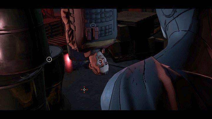 W tym momencie będziesz mógł wybrać w jaki sposób skłonisz najemnika do mówienia - Chapter 4 - Worlds Greatest Detective | Realm of Shadows - Batman: The Telltale Games Series - poradnik do gry