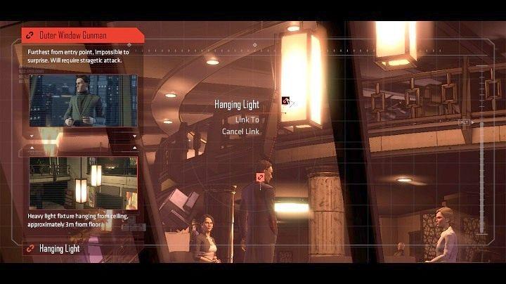 Obok każdego z uzbrojonych ochroniarzy, masz co najmniej dwa elementy otoczenia, które możesz wykorzystać do ich zneutralizowania - Chapter 5 - Room with a View | Realm of Shadows - Batman: The Telltale Games Series - poradnik do gry