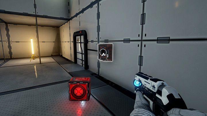 Wyjmujemy wcześniej włożony pojemnik z drzwi i wyrzucamy go chwilowo na ziemię - Chapter 1 - Opis Przejścia - The Turing Test - poradnik do gry