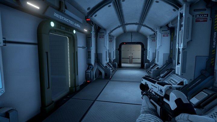 Udając się do sektoru A7, po drodzę napotkamy Restricted Area, jest to dodatkowy poziom dzięki któremu odblokujesz osiągnięcie Steam - Chapter 1 - Opis Przejścia - The Turing Test - poradnik do gry