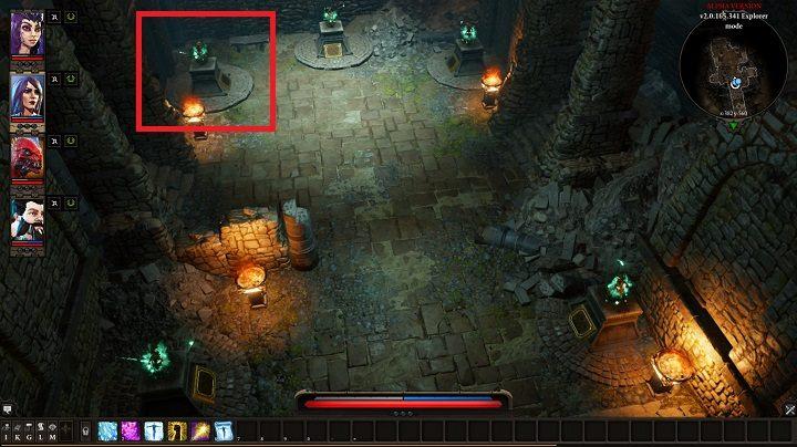 Na powyższym obrazku zaznaczono dzban z którym musisz wejść w interakcję by przejść do dalszej części zadania - Withermoores Soul Jar | Fort Joy - Divinity: Original Sin II - poradnik do gry