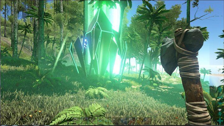 Zielony zrzut możemy otworzyć na poziomie 15 i wyższym, występuję rzadziej niż biały zrzut - Rodzaje zrzutów | Mapa świata, zrzuty i bossowie - ARK: Survival Evolved - poradnik do gry