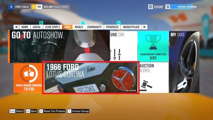 Aby wejść do sklepu wybierz ikonkę zmieniających się samochodów w festiwalu, w kategorii aukcje (Auction house) - Nabywanie pojazdów - Podstawy rozgrywki - Forza Horizon 3 - poradnik do gry