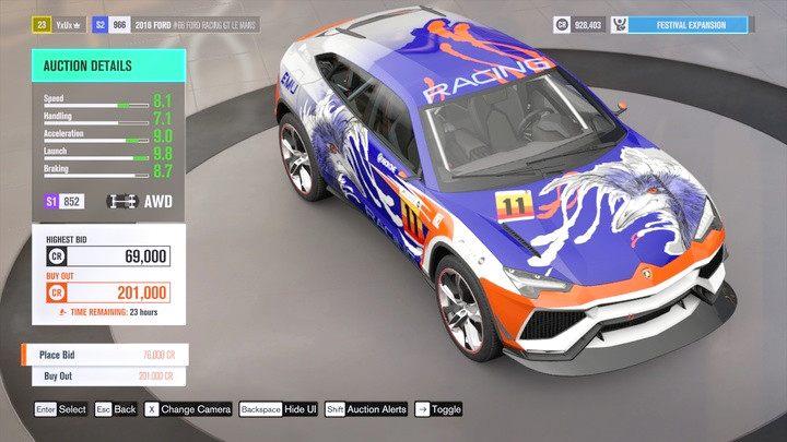 Możesz zobaczyć, o ile pojazd został ulepszony w parametrach, nie możesz jednak podglądnąć konkretnych modyfikacji. - Nabywanie pojazdów - Podstawy rozgrywki - Forza Horizon 3 - poradnik do gry