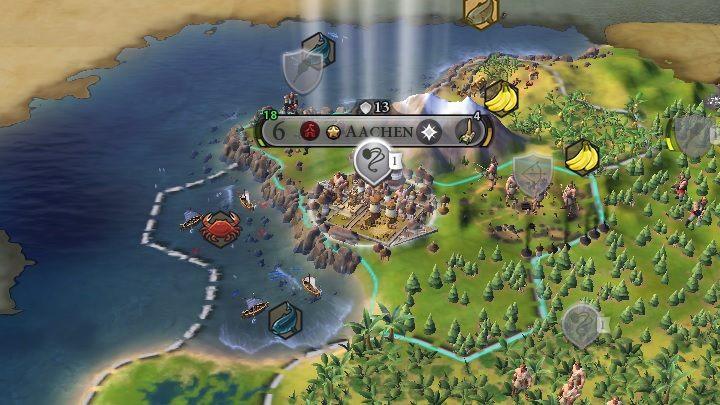 W każdej możliwej kombinacji najlepszym rozwiązaniem jest osiedlenie się na wybrzeżu, najlepiej w pobliżu góry, która dodatkowo będzie chroniła cię przed wrogą agresją - Teren - Świat gry - Sid Meiers Civilization VI - poradnik do gry