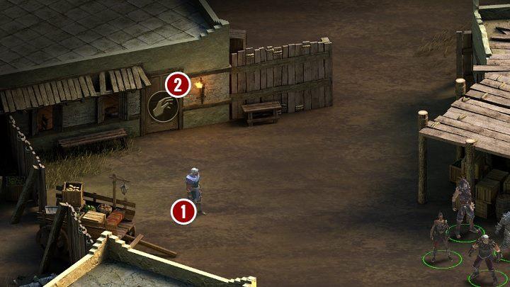 Niezależnie od decyzji podjętej w zadaniu Bitwa o Echową Przeprawę, w pobliżu dziedzińca zobaczysz mieszkańca wioski[1], a na drzwiach od pobliskiego domu pojawi się znak interakcji[2] - Żelazo Zespolonych - zadanie poboczne - Tyranny - poradnik do gry